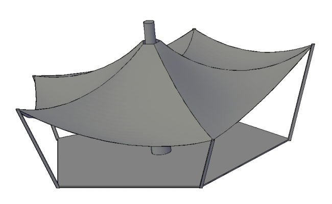 Marquee tent details in 3d