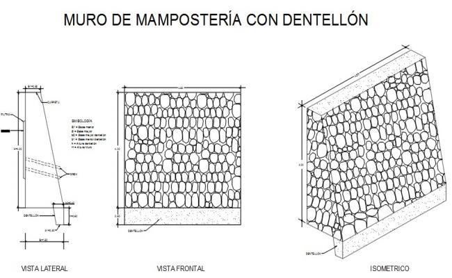 Masonry retaining wall