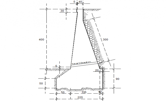 Masonry wall camposteria detail dwg file