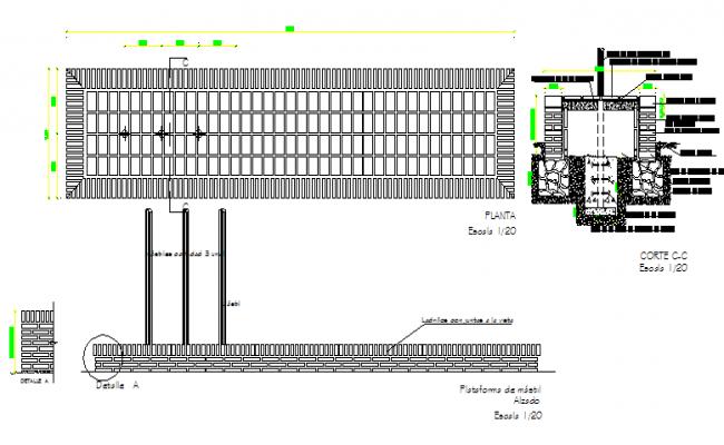 Mast platform construction details dwg file