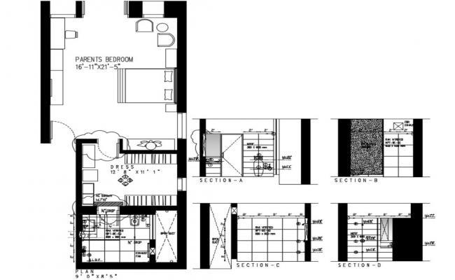 Master Bedroom Plan DWG File