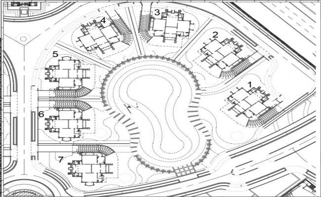 Master layout of villa,