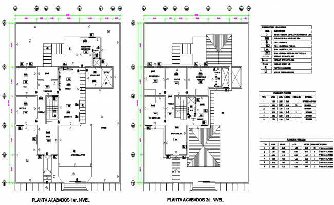 Material used building plan autocad file