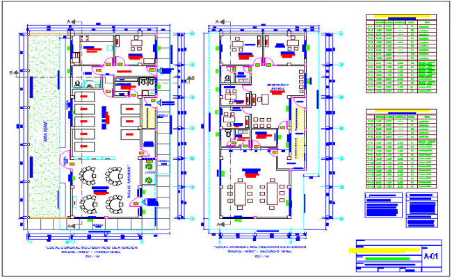 Maternity and pediatric care center of urban area floor plan dwg file