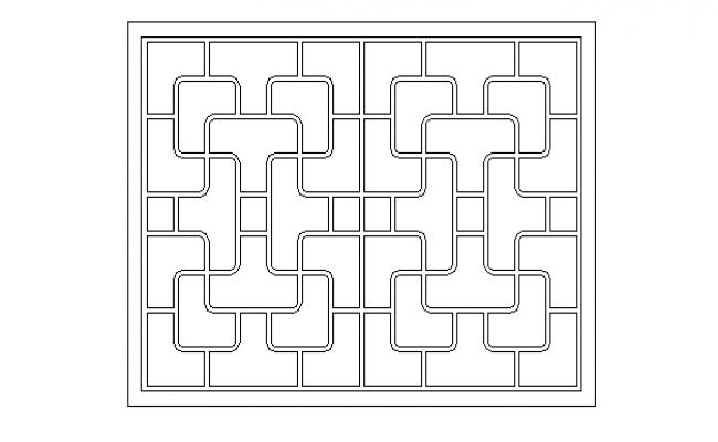 Maze design type window