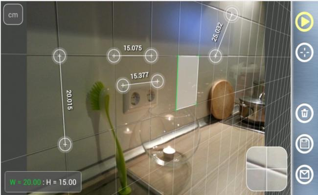 Measure all corner and floor in single click from using measurement mobile app.