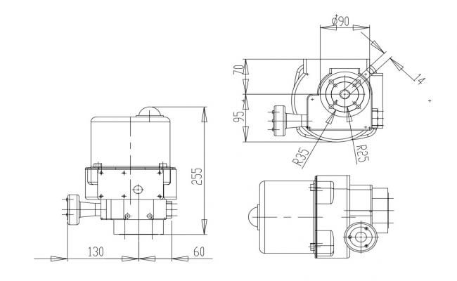 Mechanical Machine Drawing CAD File Free Download