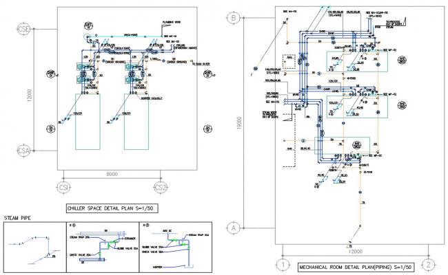 Mechanical Room Plan DWG File