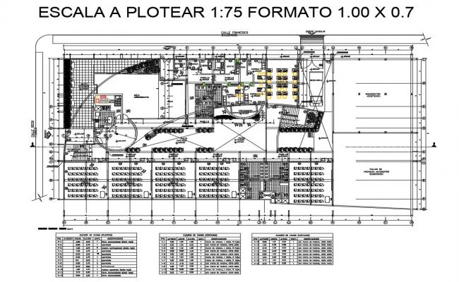 Mechanical engineering college distribution plan cad drawing details dwg file