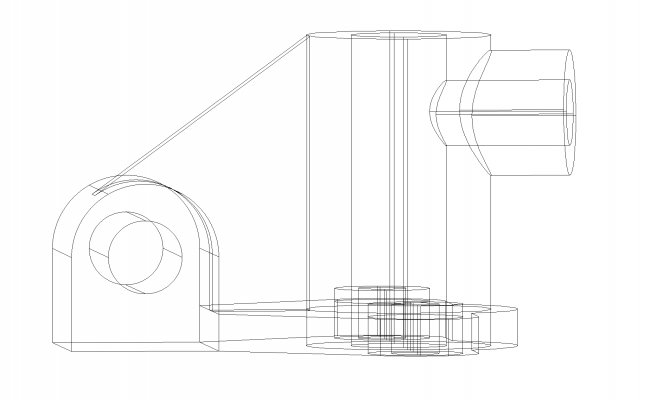 Mechanical part first drawing plan detail dwg file.