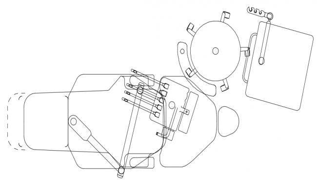 Mechanism of bell design of door dwg file