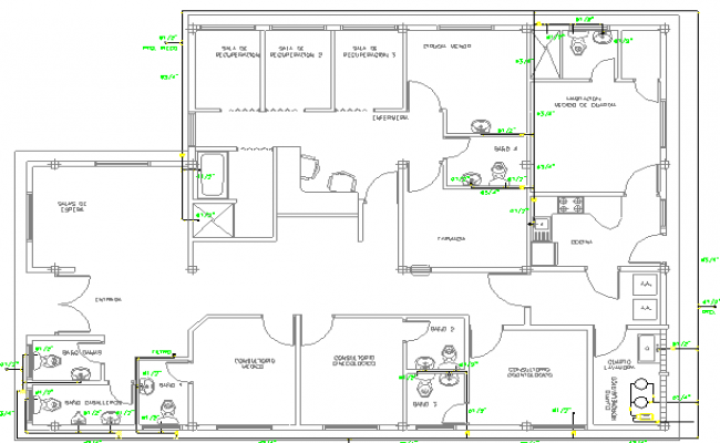 Medical clinic Structure Details dwg file