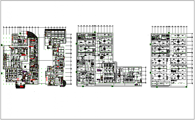 Medical collage floor plan view dwg file