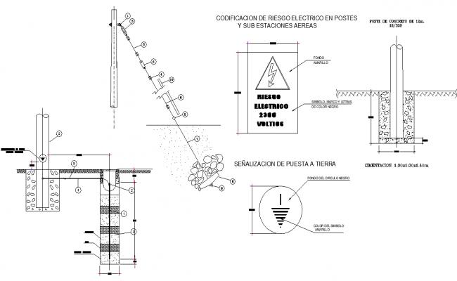 Medium voltage plan detail dwg file