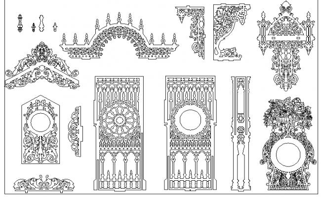 Mega Blocks of Decorative Patterns dwg file