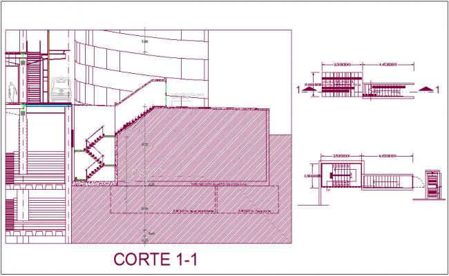 Metal door design with staircase view