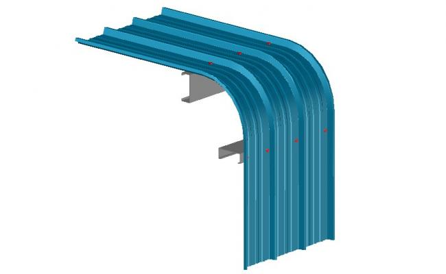 Metal panel 3d structure cad drawing details dwg file