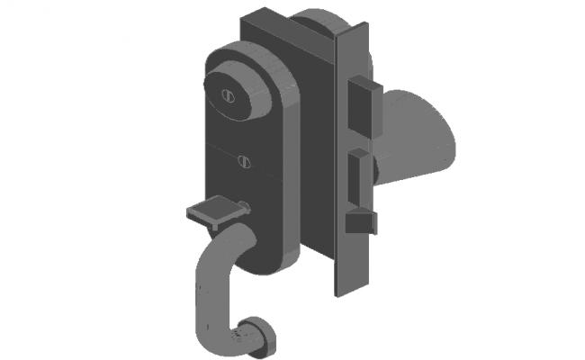 Metal plate view for main door in 3d