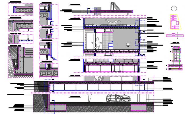 Metallic steel structure details plan detail dwg file
