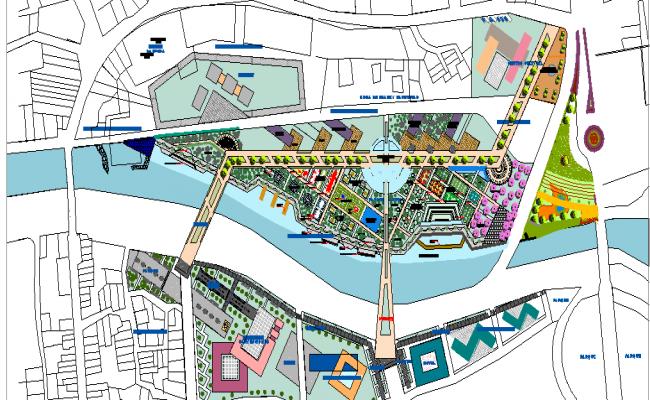 Metropolitan cultural park chili site plan details dwg file