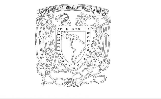 Mexico national university block cad drawing details dwg file