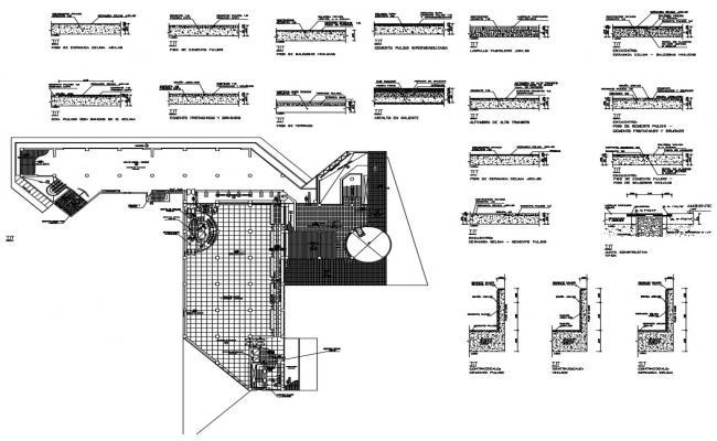 Mezzanine Floor Section CAD File