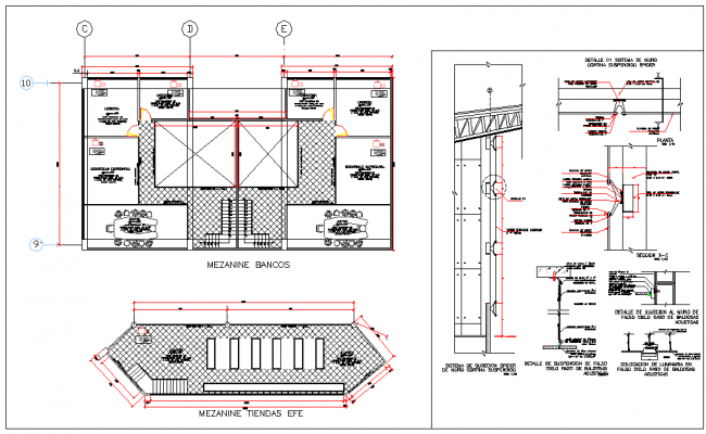 Mezzanine design small Bank Detail
