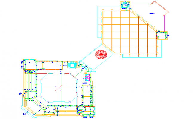 Mezzanine floor design calculations in cad file