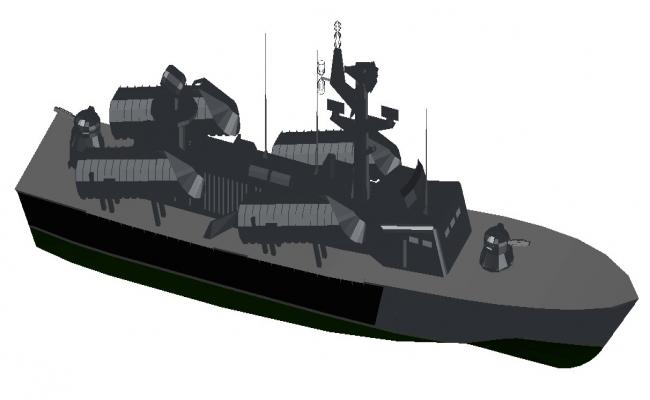 Military Ship 3d model