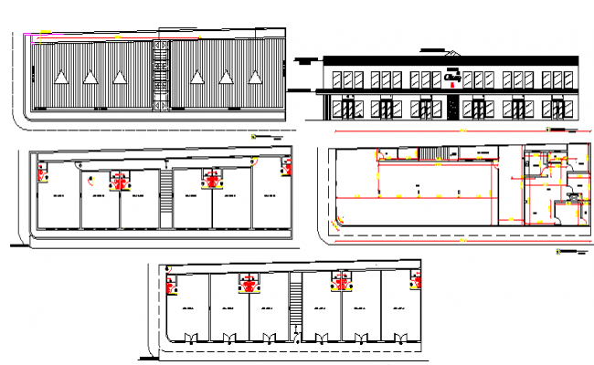 Mini shopping center auto-cad details dwg file