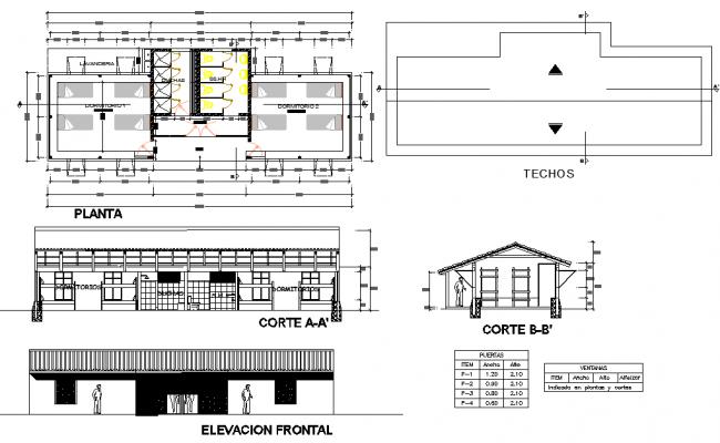 Minig camp plan detail