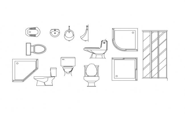 Miscellaneous dynamic bathroom blocks cad drawing details dwg file