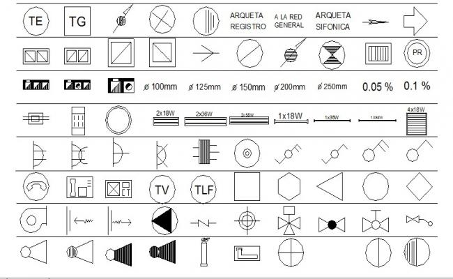 Miscellaneous sign and symbols blocks cad drawing details dwg file