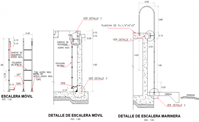 Mobail stair detail dwg file