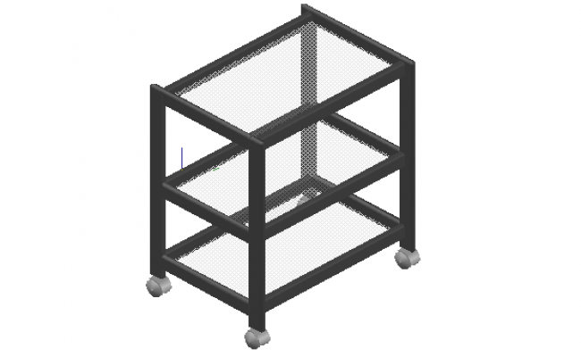 Mobile stand storage 3d