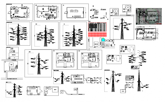 Mobile tower installations detail and design in cad files