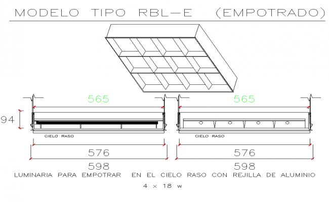 Model type detail dwg file