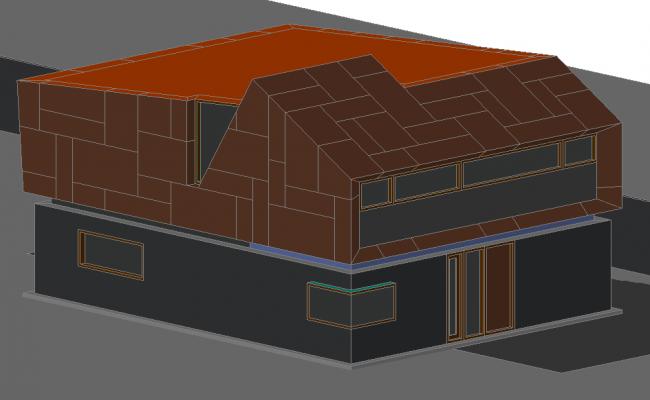 Modern 3 D plan detail
