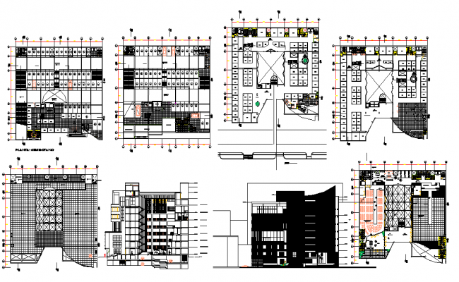 Modern 3 Storey Commercial Building Design