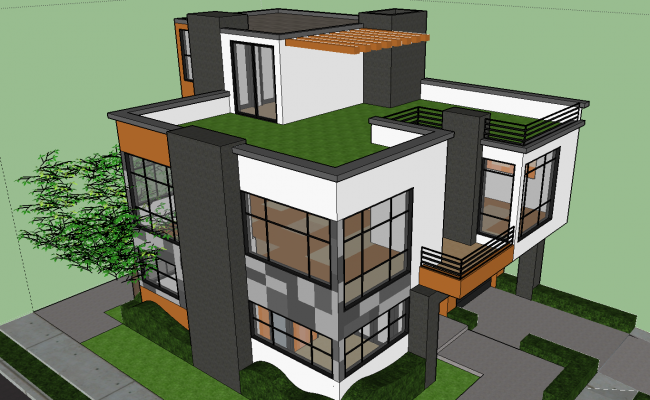 Modern 3D Bungalows Design