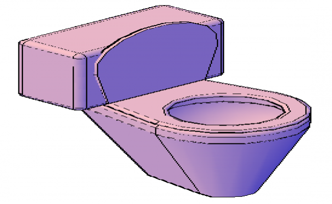 Modern 3d toilet design drawing