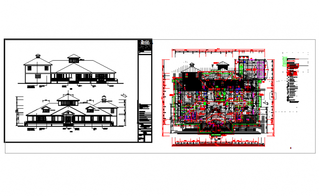 Modern Apartment Architectural drawing in cad file