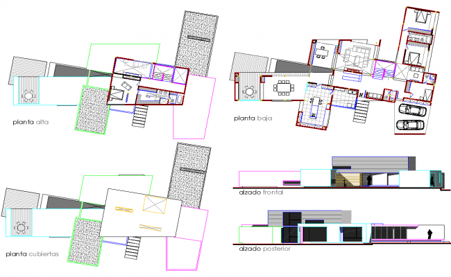 Architecture house plan dwg file
