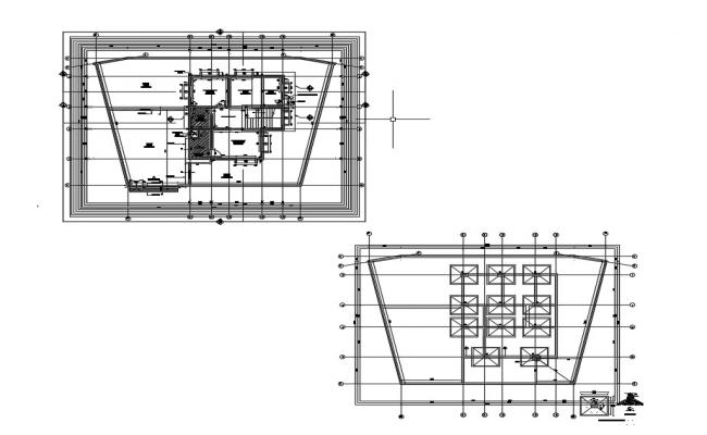 Modern Bungalow House Plans With Foundation Design AutoCAD File