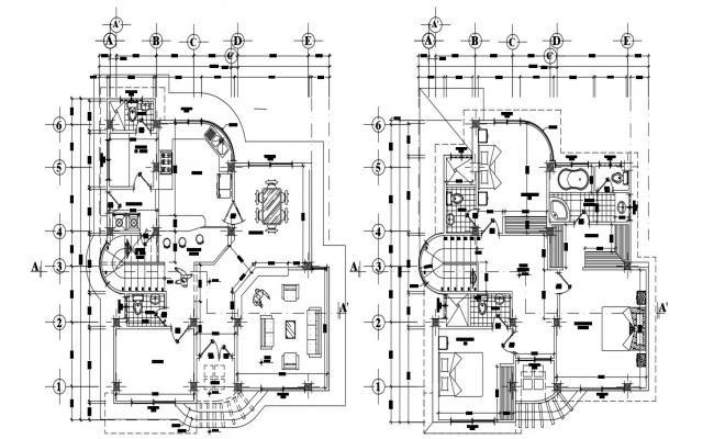 Modern Bungalow House Plans With Working Drawing AutoCAD File Free