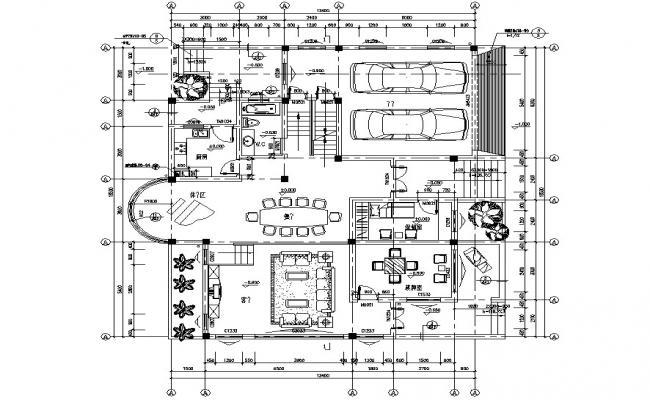 Modern Bungalow Plan DWG File