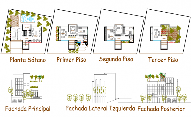 Modern Bungalow Layout Plan And Elevation Design