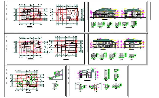 Modern Bungalows Design in autocad file