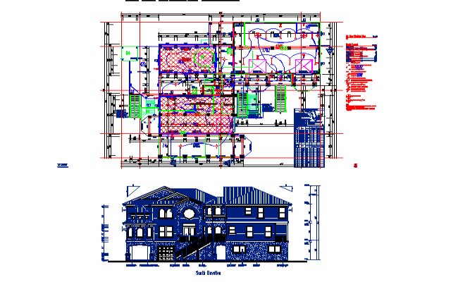 Modern Bungalows Plan Lay-out & elevation detail DWG File