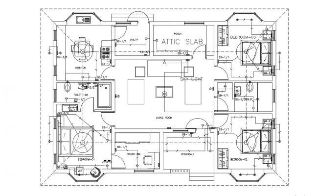 Modern Ceiling Designs for Homes CAD File